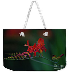 Red Flowers Weekender Tote Bag