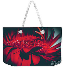 Weekender Tote Bag featuring the photograph Red Flowers Parametric by Sharon Mau