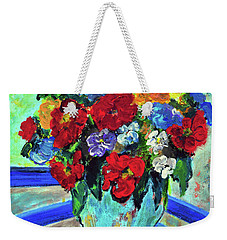 Red Flowers You Brought Weekender Tote Bag
