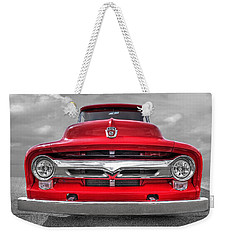 Red Ford F-100 Head On Weekender Tote Bag