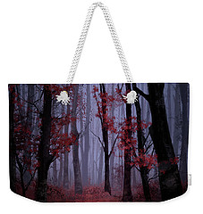 Red Forest 2 Weekender Tote Bag by Bekim Art