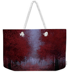 Red Forest Weekender Tote Bag by Bekim Art