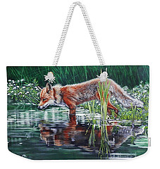 Red Fox Reflecting Weekender Tote Bag