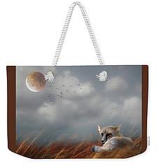 Red Fox In The Moonlight Weekender Tote Bag