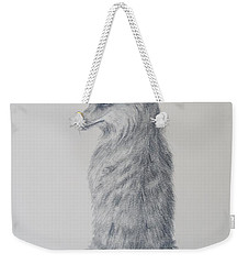 Weekender Tote Bag featuring the drawing Red Fox by Laurianna Taylor
