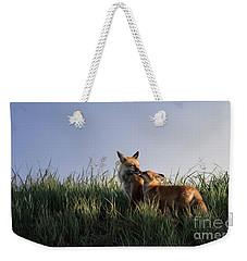 Red Fox Morning Weekender Tote Bag
