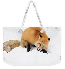 Red Fox To Base Weekender Tote Bag