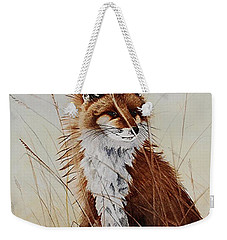 Red Fox Waiting On Breakfast Weekender Tote Bag by Jimmy Smith