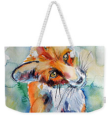 Red Fox Watching Weekender Tote Bag