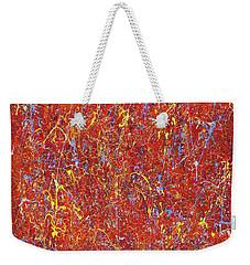 Red Galaxy-2 Weekender Tote Bag by Maxim Komissarchik
