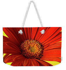 Red Gerbera Daisy 2 Weekender Tote Bag by Richard Rizzo