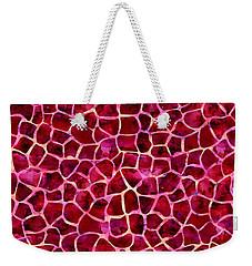 Red Giraffe Print Weekender Tote Bag