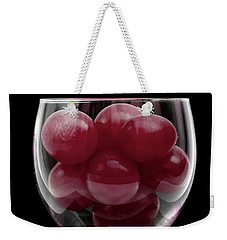Red Grapes In Glass Weekender Tote Bag