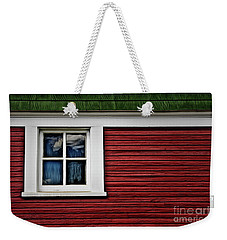Weekender Tote Bag featuring the photograph Red Green by Brad Allen Fine Art