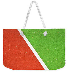 Red Green White Line And Tennis Ball Weekender Tote Bag