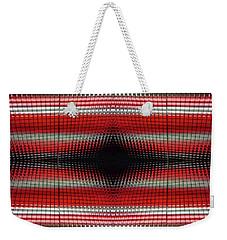 Red Grid Abstract Weekender Tote Bag