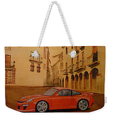 Red Gt3 Porsche Weekender Tote Bag