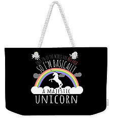 Red Hair Majestic Unicorn Funny Redhead Weekender Tote Bag