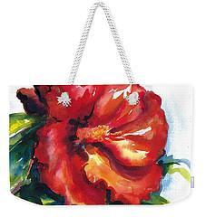 Fireball Red Hibiscus Weekender Tote Bag