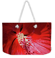 Red Hibiscus Weekender Tote Bag