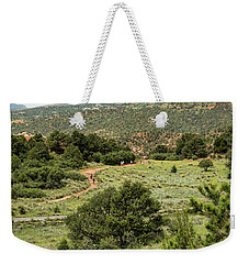 Red Hiking Trail Weekender Tote Bag