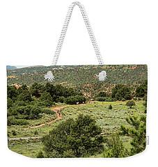 Red Hiking Trail Weekender Tote Bag