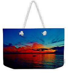 Red Horizon Weekender Tote Bag