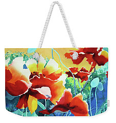 Red Hot Cool Blue Weekender Tote Bag