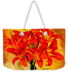 Red Hot Lilies Weekender Tote Bag