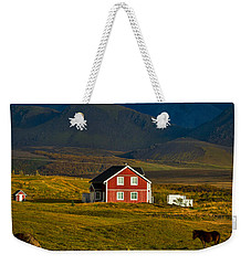 Red House And Horses - Iceland Weekender Tote Bag