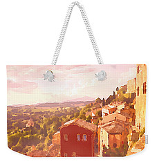 Red House On A Hill Weekender Tote Bag