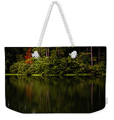 Weekender Tote Bag featuring the photograph Red In Square by Parker Cunningham