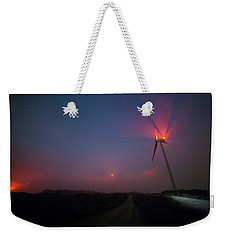 Red In The Night Weekender Tote Bag