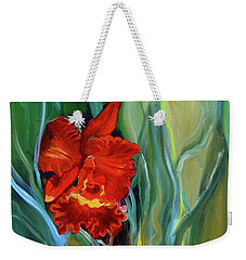 Red Jungle Orchid Weekender Tote Bag