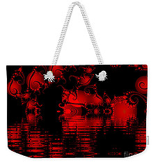 Red Lake Cave Fractal Weekender Tote Bag