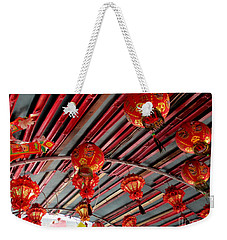 Weekender Tote Bag featuring the photograph Red Lanterns 1 by Randall Weidner