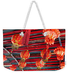 Weekender Tote Bag featuring the photograph Red Lanterns 2 by Randall Weidner