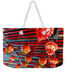 Weekender Tote Bag featuring the photograph Red Lanterns 3 by Randall Weidner