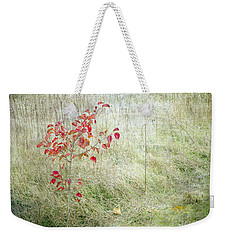 Red Leaves Amongst Grass Weekender Tote Bag