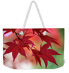 Weekender Tote Bag featuring the photograph Red Leaves by Clare Bambers