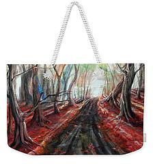 Red Leaves Weekender Tote Bag