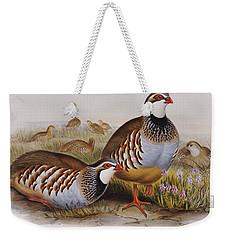 Red-legged Partridges Weekender Tote Bag by John Gould
