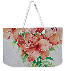 Red Lilies Weekender Tote Bag