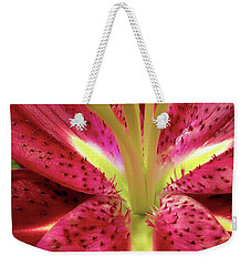 Red Lily Closeup Weekender Tote Bag