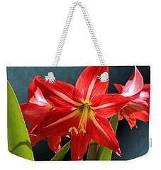 Red Lily Flower Trio Weekender Tote Bag