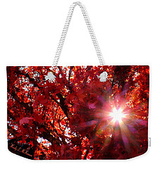 Red Maple Burst Weekender Tote Bag