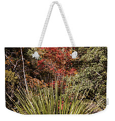 Weekender Tote Bag featuring the photograph Red by Melany Sarafis