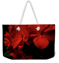 Red  Midnight Magic Flowers Weekender Tote Bag