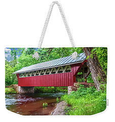 Red Mill Covered Bridge Weekender Tote Bag
