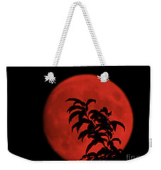 Red Moon Weekender Tote Bag